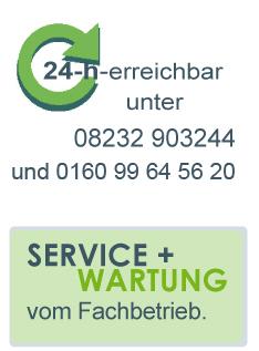 Service und Wartung vom Fachbetrieb